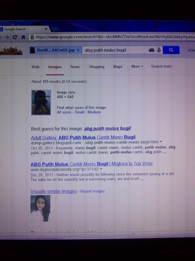 bukti yang saya dapat dari pencocokan gambar di google images